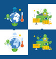 ecology environmental issues global warming eco vector image