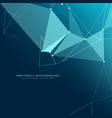 low poly technology background design vector image