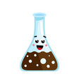 medical glass tube cute cartoon character vector image