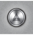 round metal eject button vector image