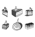 sketch cake element vector image