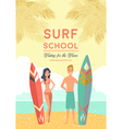Surf School Poster vector image