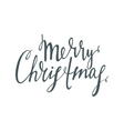 Handwrite calligraphic inscription Merry Christmas vector image