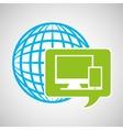 globe development technology laptop mobile vector image
