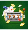 casino concept slot machine vector image vector image