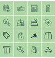 set of 16 ecommerce icons includes withdraw money vector image