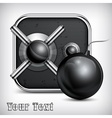 Safe icon bomb vector image vector image