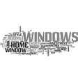 windows a great investment text word cloud concept vector image