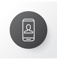 Private info icon symbol premium quality isolated vector image