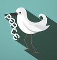 Peace Dove Retro Flat Design vector image