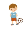 Cute football player vector image vector image