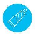 Tube of toothpaste line icon vector image