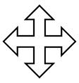 Full Screen Arrows Contour Icon vector image