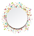 Clean Card with Colorful Explosion of Confetti vector image vector image