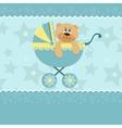Baby greetings card vector image