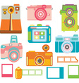 Camera ElementsColorful Camera Collection vector image