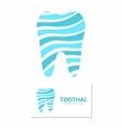 dental clinic logo design template vector image
