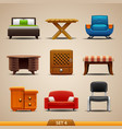 furniture icons-set 4 vector image