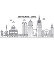 ohio cleveland architecture line skyline vector image