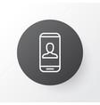 Private info icon symbol premium quality isolated vector image
