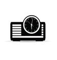 radio-clock in black vector image