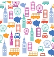 Set pattern icons london city trophy gold award vector image