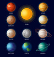 solar system objects all vector image