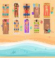 view from above people on a sunny beach vector image