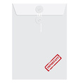 White long envelope with stamp important vector image