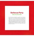 Barbecue Party Paper Template vector image