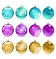 Multicolored Christmas balls Set 4 of 4 vector image vector image