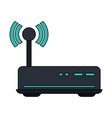 white background with wireless router vector image