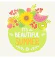 fruit summer label vector image