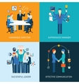 Business team leader banners vector image