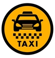 cab yellow icon for taxi drive vector image vector image