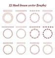 Hand drawn decorative brushes Design vector image vector image