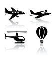 set of transport icons - aircrafts vector image
