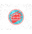 business case line icon portfolio sign vector image