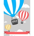 hot air balloon poster with sale vector image