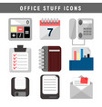 office stuff icons vector image