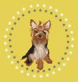 little dog -desgn vector image vector image