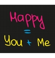 Happy you and me vector image vector image