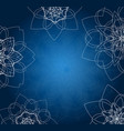 abstract blue background with tribal floral vector image