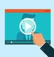 webinar concept in flat style vector image vector image