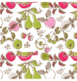bird and fruit wallpaper vector image vector image