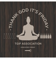 Happy Friday thank God it is Friday vector image vector image