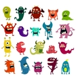 Cartoon monsters set Colorful toy cute monster vector image