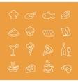 Food line icons set vector image