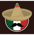 Mexico design Culture icon Colorful vector image