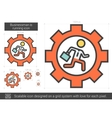Businessman is running line icon vector image
